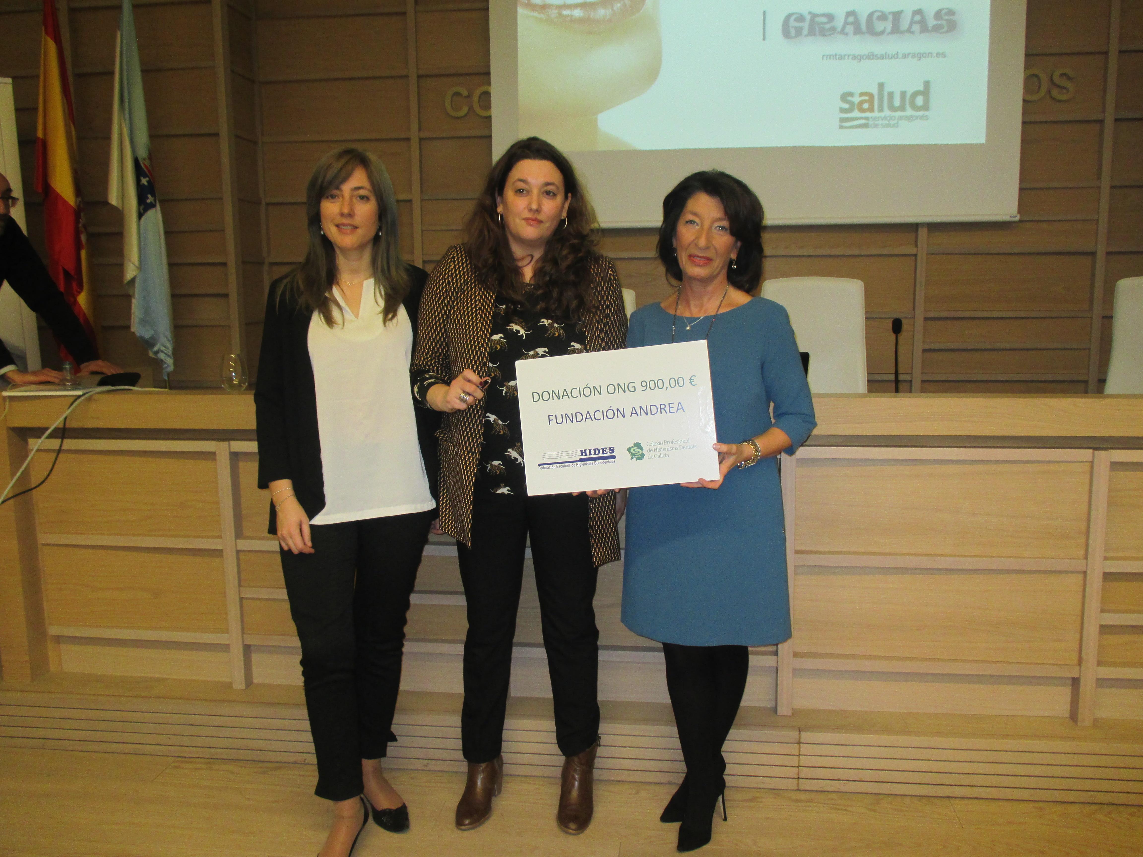 donación 900 € a la ong Funadación Andrea